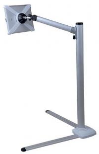 Напольный держатель для планшетов Kromax SATELLITE-100 от 7 до 12, высота от 315 до 951 мм, наклон 270°, поворот 270°, вращение экрана на 360°