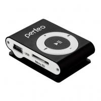МР3/MPEG4-плееры Perfeo Perfeo  цифровой аудио плеер Music Clip Titanium, чёрный (VI-M001 Black)