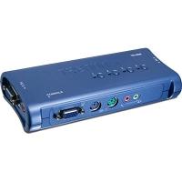 Коммутатор TRENDnet TK-408K Четырёхпортовый КВМ-переключатель VGA, PS/2 аудио