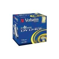 Диск DVD+RW Verbatim 4.7Gb 4x Jewel Case (10шт) 43246