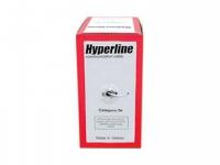 Кабель Hyperline UTP4-C5E-SOLID-GY-305 Кабель витая пара UTP (U/UTP), категория 5e, 4 пары (24 AWG), одножильный (solid), серый, PVC (305 м)