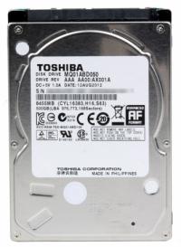 "Жесткий диск Toshiba SATA-II 1Tb MQ01ABD100 (5400rpm) 8Mb 2.5"""