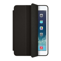 Чехол - обложка Apple iPad mini Smart Cover Polyurethane Black MGNC2ZM/A для iPad mini 2/ iPad mini 3