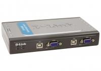 D-LINK DKVM-4U/A5A KVM-переключатель на 4 компьютера USB ( 2 кабеля в комплекте)