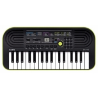 Синтезатор Casio SA-46 (32мини-клав,100тон,50ритм,10пьес,5удар.пэд,2х0.5Вт,зеленый.!Без БП AD-E95)