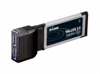 Адаптер D-Link DUB-1320 2-портовый USB 3.0 для шины ExpressCard