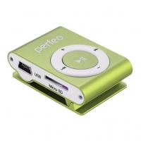 МР3/MPEG4-плееры Perfeo Perfeo  цифровой аудио плеер Music Clip Titanium, зелёный (VI-M001 Green)