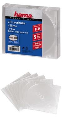 Коробка Hama на 5CD/DVD H-51163 прозрачный