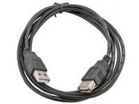 Кабель удлинитель USB 2.0 AM/AF 1.8м Gembird, черный, пакет  CCP-USB2-AMAF-6