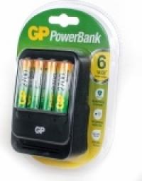 Зарядное устр. GP PowerBank 2, 6 часов + аккум. 4шт. 2700mAh (GP PB570GS270-CR4)