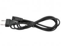 Кабель Кабель питания аудио/видео Gembird 1.8м, 2-pin, черный, пакет PC-184/2-1.8М
