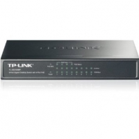 Коммутатор TP-LINK TL-SG1008P 8-Port Gigabit Desktop PoE Switch, 8 Gigabit RJ45 ports including 4 PoE ports, steel case