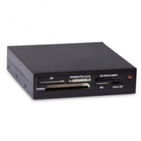 "Картридер <All-in-1> USB 2.0 internal 3.5"" Black, Ginzzu OEM (GR-116B)"