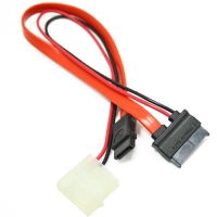 Кабель соед. SATA Slimline SATA 6+7P/SATA 7P + Power for miniITX case