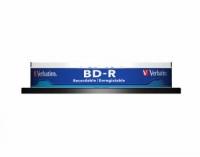Диск BD-R Verbatim 25Gb 6x Cake Box (10шт) Printable Light Scribe DataLife (43804)