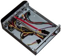"""Корпус 3Cott - M01 mini-ITX, 65Вт адаптер, 1* 2.5"""", USB 2.0, с универсальным креплением к монитору, черный."""