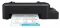 Принтер Epson L120, 4-цветный струйный, A4, 8.5 (4.5 цв) стр/мин, 720x720 dpi, подача: 50 лист., USB (старт.чернила - около 2000 ч/б стр, 3500 цв. стр., без учета первой прокачки)