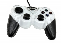 Геймпад 3Cott Single GP-05,14 кнопок, вибрация, USB,белый