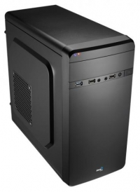Корпус Aerocool Qs-180 черный w/o PSU mATX SECC 2*120mm 1*80mm fan 2*USB2.0 USB3.0 e-SATA audio HD screwless