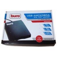 "Дисковод FDD 3.5"" Buro BUM-USB FDD 1.44Mb черный ext 3,5""/USB2.0/2DD-2HD/720K-1,44M"