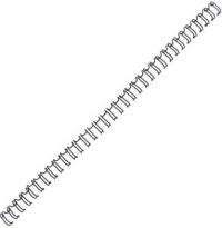 Пружина металлическая Fellowes 6 мм (на 1 - 35 листов), 100шт, цвет черный (FS-53218)
