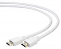 Кабель HDMI Gembird/Cablexpert, 1.8м, v1.4, 19M/19M, белый, позол.разъемы, экран, пакет