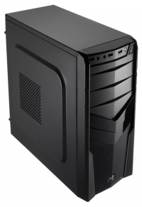Корпус Aerocool V2X BLACK черный w/o PSU mATX SECC 1*92mm fan 2*USB2.0 USB3.0 audio HD bott PSU