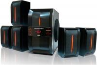 Колонки Dialog Progressive AP-540 BLACK {акустические колонки 5.1, 40W+5*12W RMS,  USB+SD reader}