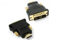 Переходник Переходник HDMI-DVI 19M/25M(папа-папа), золотые разъемы Gembird A-HDMI-DVI-1