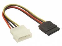 Кабель питания SATA Molex(4pin, БП) - SATA (устройство), 14см, ORIENT