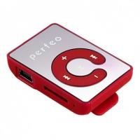 МР3/MPEG4-плееры Perfeo Perfeo  цифровой аудио плеер Music Clip Color, красный (VI-M003 Red)