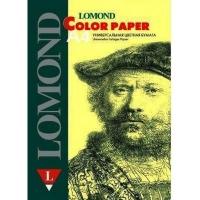 Офисная цветная бумага LOMOND, Lemon (Лимонно-желтый), A4, 160 г/м2, 125 листов, средний тон.