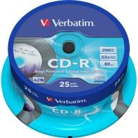 Диск CD-R Verbatim 700Mb 52x DataLife Cake Box (25шт) 43432