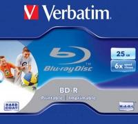 Диск Blu-Ray Verbatim 25Gb 6x Jewel Case Printable (1шт) (43713)