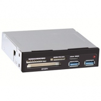 "Картридер <All-in-1> USB 3.0 internal 3.5"" Black + 2xUSB 3.0 ports, Ginzzu (GR-152UB)"