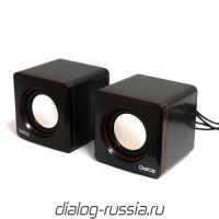 Колонки Dialog Colibri AC-04UP BLACK-RED - 2.0, 6W RMS, черно-красные, питание от USB