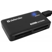 Картридер Defender OPTIMUS USB 2.0, универс. черный