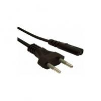 Кабель питания для ноутбуков, аудио/видео техники Gembird PC-184-VDE-1.8М, 1,8м, VDE, 2-pin, черный, пакет