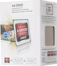 Процессор AMD A4 5300 FM2 (AD5300OKHJBOX) (3.4/1Mb/Radeon HD 7480) BOX