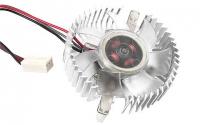 Вентилятор Вентилятор для видеокарт Gembird VC-RD 3pin/4pin (алюм.радиатор, подсветка)