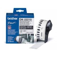 Этикетки Brother DK22210 клеящаяся лента белая 29mm 30.48m для QL-500